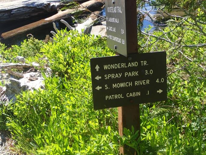 Wonderland Trail Sign