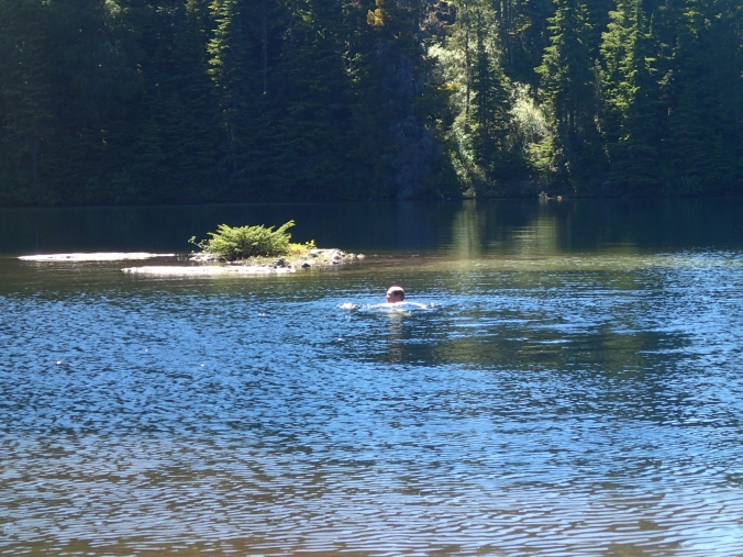 Swimming in Golden Lakes