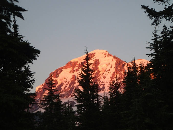 Alpine Glow On Mount Rainier