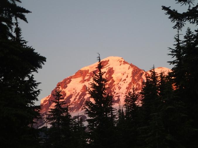 Alpine Glow On Mount Rainier