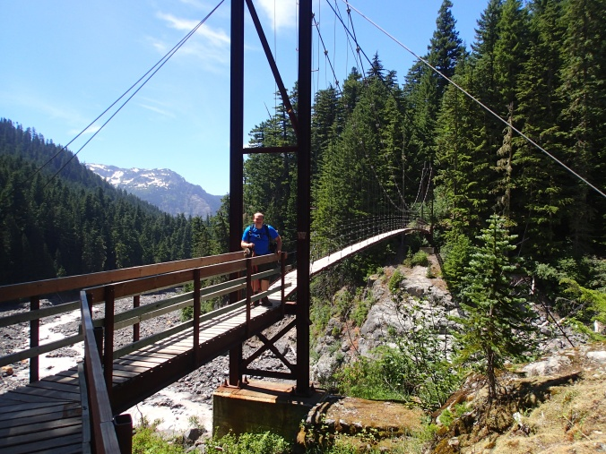 On The Tahoma Creek Suspension Bridge