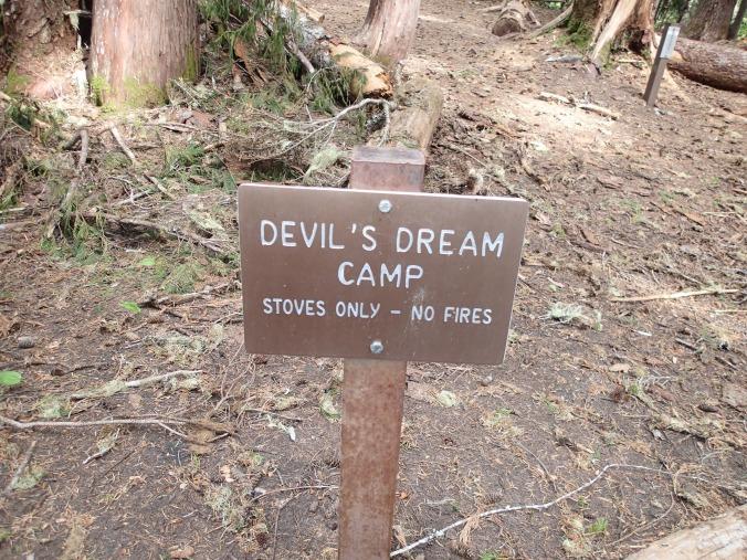 Devil's Dram Camp Sign